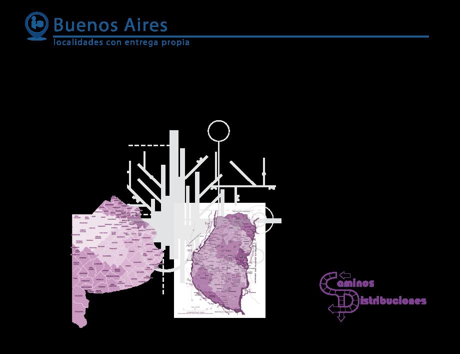 Buenos Aires, Localidades con entrega propia